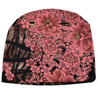 Beanie hat - brown and pink
