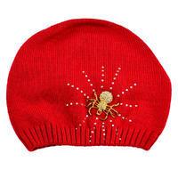 Pletená vlněná čepice - červená