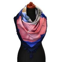 Maxi šátek - modrorůžový se vzorem