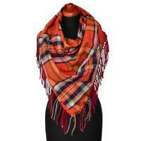 Maxi trojcípý šátek - oranžový