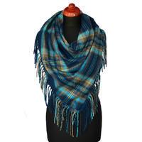 Maxi trojcípý šátek - modrý