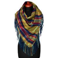 Maxi trojcípý šátek - zelenomodrý
