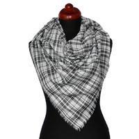 Velký šátek - bíločerná kostka