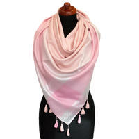 Big square scarf - pink