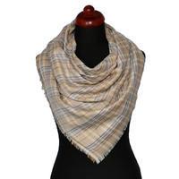 Velký šátek - hnědá kostka