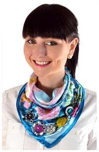 Small jewelry scarves