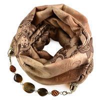 Warm bijoux scarf - light brown