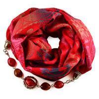 Warm bijoux scarf - red