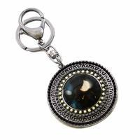 Klíčenka - přívěsek na kabelku prs229-70 - černobílá holčička