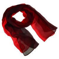 Šála vzdušná - červené ombre