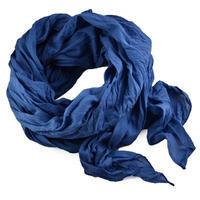 Šála bavlněná Classic 69cu001-30 - modrá