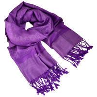 Šála kašmírová - fialová