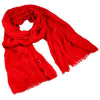 Classic cotton scarf - red