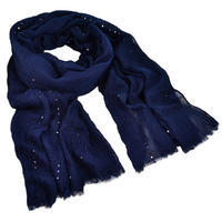 Classic cotton scarf - blue