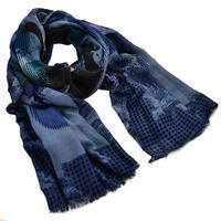 Classic women's scarf - blue