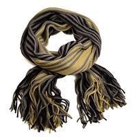 Šála panská pletená 69cp003-40.14 - hnědobéžová pruhovaná