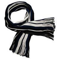 Šála panská pletená 69cp003-30.01 - modrobílá pruhovaná