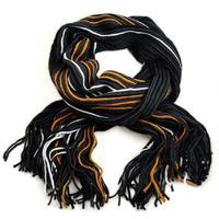 Classic scarf 69cp003-70.11 - grey and orange