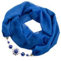 Šála s bižuterií Extravagant - modrá
