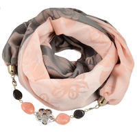 Cotton jewelry scarf - pink
