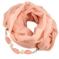 Cotton jewelry scarf Bijoux Me - peach