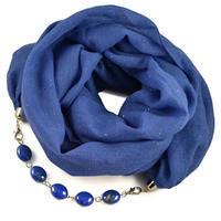 Cotton jewelry scarf Bijoux Me - blue