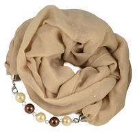 Cotton jewelry scarf - black