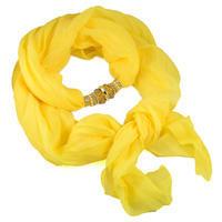 Jewelry scarf Bijoux Me - solid yellow