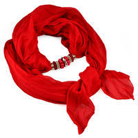 Jewelry scarf Bijoux Me - solid red
