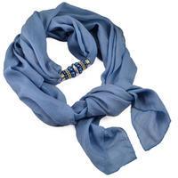 Jewelry scarf Bijoux Me - solid blue