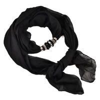 Jewelry scarf Bijoux Me - solid black