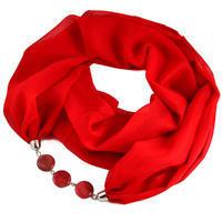 Šála s bižuterií Extravagant 396ext001-20 - červená