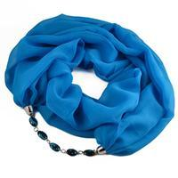 Šála s bižuterií Extravagant 396ext001-31 - modrá