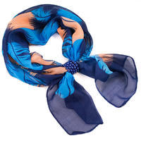 Jewelry scarf Melody - blue