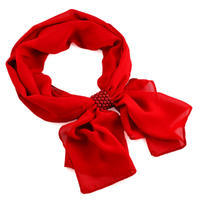 Jewelry scarf Melody - red