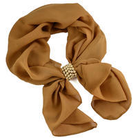 Jewelry scarf Melody - brown