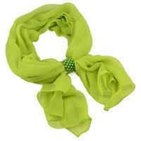 Jewelry scarf Melody - apple green