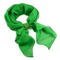 Šála se sponkou Melodie 299mel001- 50 - zelená