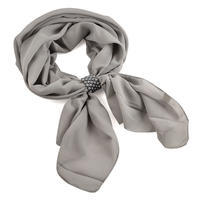 Jewelry scarf Melody - grey