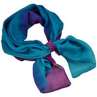 Jewelry scarf Melody - bluegreen and violet