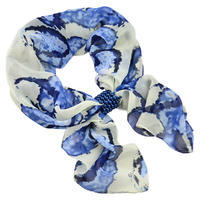 Jewelry scarf Melody - blue and white