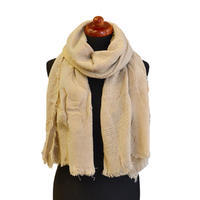 Classic warm scarf - beige