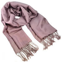 Classic winter scarf - old rose pink