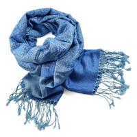 Šála teplá 69cz001-31 - modrá jednobarevná