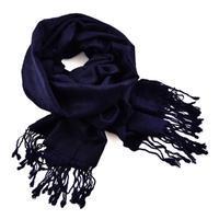 Classic cashmere scarf - dark blue