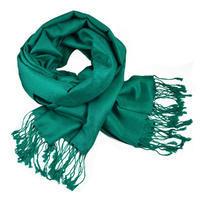 Šála teplá - zelenomodrá jednobarevná