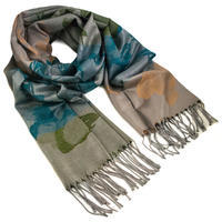 Classic warm scarf - brown and green