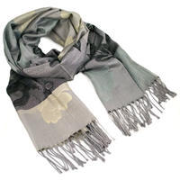 Classic warm scarf - grey and beige