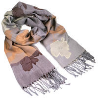 Classic warm scarf - grey and brown