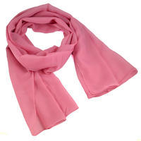 Šála vzdušná 69kl001-23 - růžová jednobarevná